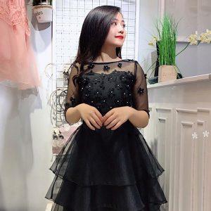 Đầm Vol đen