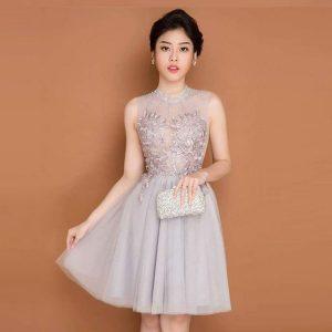 Đầm Vol Xám