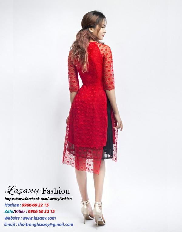 Áo dài cách tân ren cao phôi chân váy - ADCT 09 (1)